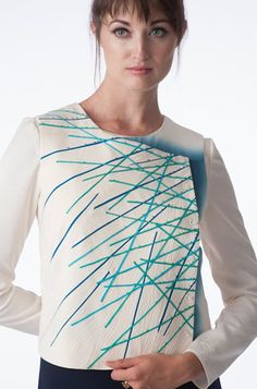 Ann Williamson brilliantly sews the swirling spirals of atomic particles into new designs and motifs. Smithsonian Craft2Wear, Oct 1-3, 2015, Washington, DC. http://swc.si.edu/craft2wear
