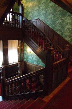 beautiful! (fiction) Stairwell in Grace Bed & Breakfast in Stillwater Springs. X