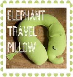 Entirely Emily: K's Elephant Travel Pillow - free tutorial and Pattern, Schnittmuster und Bildanleitung