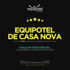 EQUIPOTEL 2016 - Que acontece de 19 a 22  de setembro será realizada no São Paulo Expo (antigo Centro de Exposições Imigrantes), também na capital paulista. A H.SharersGroup estará presente atendendo clientes e fornecedores.