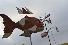scrap metal art by martiensbekker.co.uk, port isaac, cornwall, UK