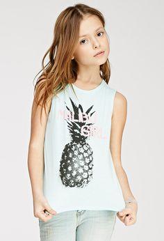 Malibu Girl Graphic Tank (Kids) | Forever 21 girls | #f21kids