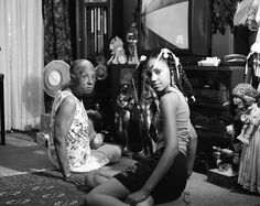 Exhibition. LaToya Ruby Frazier: A Haunted Capital. Brooklyn Museum, Brooklyn, NY. March 22 - August 11, 2013.   Pictured: Grandma Ruby and Me, 2005.