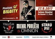 Michal Pavlíček & Omnion Vilém Čok & Bypass Starý psi 27. září 2017, Saloon Roudná,