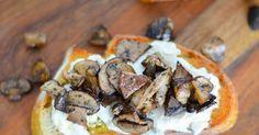 Luci's Morsels: Roasted Mushroom + Burrata Crostini