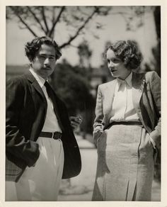 Josef Von Sternberg and Marlene Dietrich, 1930