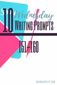 Welcome back for another week of Wednesday writing prompts… on a Thursday. Please forgive me for my late post, with the holiday and the sickness that decided to make it's home in my chest, I wasn't able to pull it off. But never fear, here's this week's prompts: 1.) They took everything from me. Now… Read More Wednesday Writing Prompts 151-160