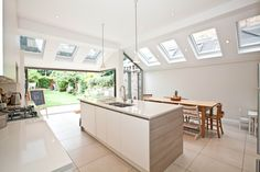 Modern kitchen extension to an Edwardian house in London