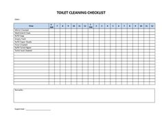 Restaurant Restroom Checklist  Restroom Check List