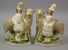 I have these in white, but this is a wonderfuly painted Couple with their show sheep