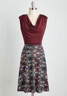 Pretty Packages Dress in Spanish Tile, #ModCloth