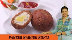 Vahchef is very fond of cooking and her Recipes are very unique and fit for busy women specially working women DESCRIPTION: Paneer nargisi kofta is snack. Red Chili Powder, Snack Recipes, Snacks, Flat Shapes, Dumpling, Garam Masala, Chutney, Muffin, Cooking