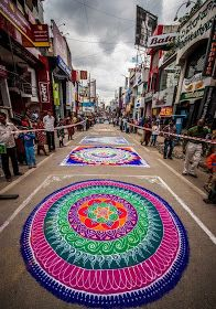 Rangoli - saying hello to the gods as they enter your house!