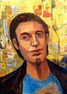 Protrait paintings of Leslie Margolis - Improv on a Jazz Artist