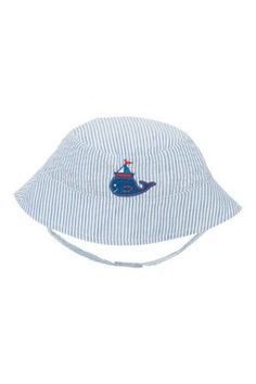Elegant Baby Sun Hat Nautical Boy Seersucker sun hat Fits 6 to 12 months Please Click the image for more information. Baby Sun Hat, Unique Baby Gifts, New Mums, Seersucker, Sun Hats, Baby Love, Blue Stripes, Fashion Forward, Beach Mat