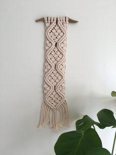 Macrame grueso algodón colgante de pared / por KnottyKnottyMacrame