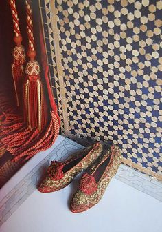 Rich Moroccan tassels and shoes