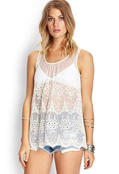 Coming Home/Warehouse Top Crocheted Mesh Tank Top | FOREVER21 - 2000060880