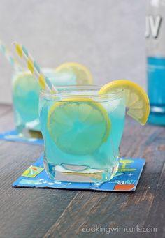 Blue Lemonade Cocktail @FoodBlogs