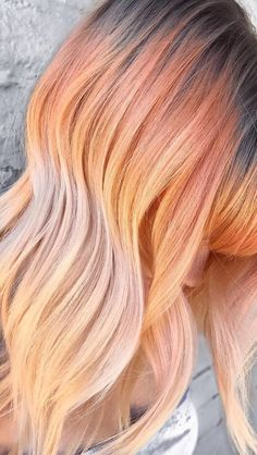 Fox ombré. So pretty!! IDK if I would ever be adventurous enough to try this, but I absolutely love the color!!
