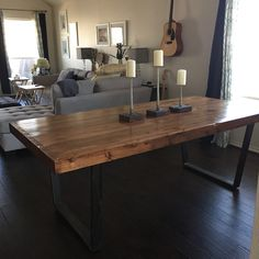 New custom dining room table from Ross Rustic Tables