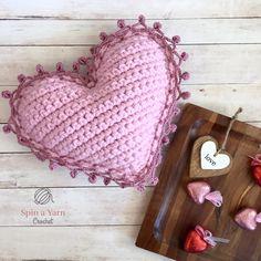 Easy Crochet Heart Pattern Heart Pillow Free Crochet Pattern Spin A Yarn Crochet Easy Crochet Heart Pattern Crochet Hearts Applique Free Crochet Pattern Goldenlucycrafts. Easy Crochet Heart Pattern The Easiest Heart Crochet Pattern. Crochet Pillow Pattern, Easy Crochet Patterns, Amigurumi Patterns, Crochet Designs, Crochet Gifts, Crochet Yarn, Free Crochet, Crochet Blouse, Yarn Projects