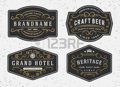 Diseño del marco de la caligrafía Flourish de etiquetas, bandera, logotipo, emblema, menú, etiqueta engomada y otro diseño vintage decorativo flourishes caligráficos