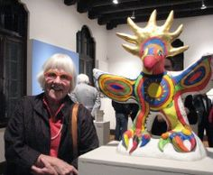 Mary Beebe with Sun God maquette
