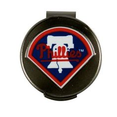 Mlb hat clip/ball marker phillies by McArthur Sports. $13.75. Includes Two Ball Markers. MLB Team Trademark. Attaches To Visor Or Hat. Magnetic Hat Clip. New Lower Price On Selected Models! McArthur...Your Resource For Branded Golf Accessories! McArthur MLB Hat Clip/Ball Markers feature: One hat clip and one team ball marker Hat clip attaches securely to your hat/visor with a removable magnetic ball marker Ball markers represent your favorite MLB teams Available MLB Teams Ar...