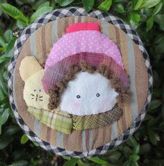 Handmade girl quilt applique fabric wallet pocket coin pouch purse mini bag #Handmade #coinpurse