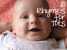 The BCW Lady says: Nursery Rhymes are baby-perfect and require no commercial materials. 10 Rhymes for Babies and Toddlers to get them learning language, counting, active and animal noises. Toddler Play, Baby Play, Baby Kids, Kids Fun, Infant Activities, Activities For Kids, Rhyming Activities, Activity Ideas, Rhymes For Babies