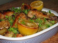 Pulpe de pui la cuptor cu usturoi si cartofi cu ierburi aromate din categoriile Aperitive, Aperitive, Fripturi, Mancaruri cu carne, Mancaruri cu legume si zarzavaturi