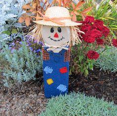 scarecrow images | Scarecrow Craft from Garden Edging Block « Brown Eyed Rose