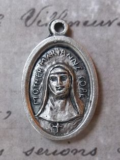 Saint Marianne Cope Of Molokai Patron Saint Of Outcasts, Italian Religious Holy Medal, Father Damien & Mother Marianne