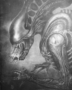 Real monsters...the start of my Alien sleeve tattoo begins 7/8/13