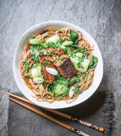 Glazed tempeh, bok choi and soba noodles   The Vegan Society