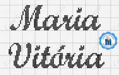 Resultado de imagem para nome maria julia em ponto cruz