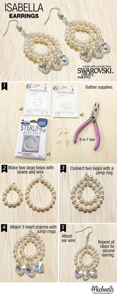 Heads will turn to see your amazing DIY pearl and crystal earrings. Make them following these easy steps and get ready for the compliments.