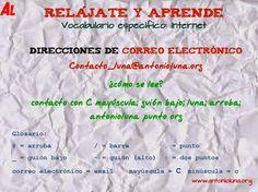 Specific vocabulary: Internet  http://www.antonioluna.org/2014/10/specific-vocabulary-internet.html