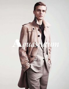 Benjamin Eidem by Willy Vanderperre for Aquascutum Spring/Summer 2012 Campaign