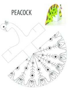 Worksheet for peacock pattern activities, forms activities - Diy & Crafts World Animal Crafts For Kids, Summer Crafts, Preschool Crafts, Diy Crafts For Kids, Arts And Crafts, Paper Toys, Paper Crafts, Peacock Crafts, Peacock Bird