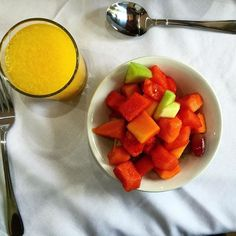 Fruit salad and orange juice for breakfast on day 53 of. It was served with an additional omelette. #healthyafricanfood #Kenya #Zimbabwe #Africa #thekitchen #huffposttaste #todayfood #lifeandtyme #eat #food #fitness #eatclean #cleaneating #paleo #noncarb #lowcarb #healthyfood #weightloss #diet #lowcarb #slowcarb #meals #goals #eatlean #foodie #healthy #grainfree #glutenfree #fit http://ift.tt/1VHbCX9