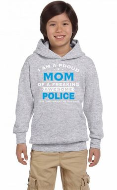 Police Mom - Mother's Gift - Mothers Day Youth Hoodie