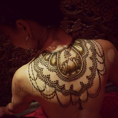 Lotus Flower Henna ~ Women's Back