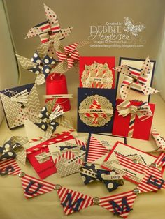 Ideas for the July Paper Pumpkin kit. Some really cute ideas here---Debbie's Designs: My Paper Pumpkin June! 4th Of July Fireworks, Fourth Of July, Stampin Up Paper Pumpkin, Pumpkin Cards, Stamping Up Cards, Pinwheels, Cardmaking, Holiday Cards, 3 D