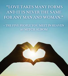 The Five People You Meet in Heaven by Mitch Albom | 21 Beautiful And Unique Wedding Readings From Books