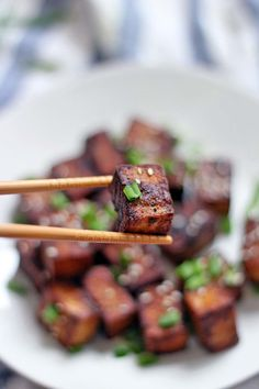 Pan Seared Soy Sauce and Black Pepper Tofu | This is the best and easiest way to prepare tofu that's crispy, simply flavored and salty, and goes with pretty much anything! No breading or deep frying required.