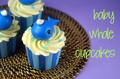 How to Make Baby Whale Cupcakes - Bake Happy
