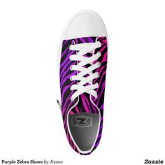 Purple Zebra Shoes