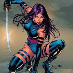 Psylocke x-men marvel Marvel Dc Comics, Hq Marvel, Anime Comics, Marvel Heroes, Marvel Cinematic, Marvel Women, Marvel Girls, Comics Girls, Marvel Females